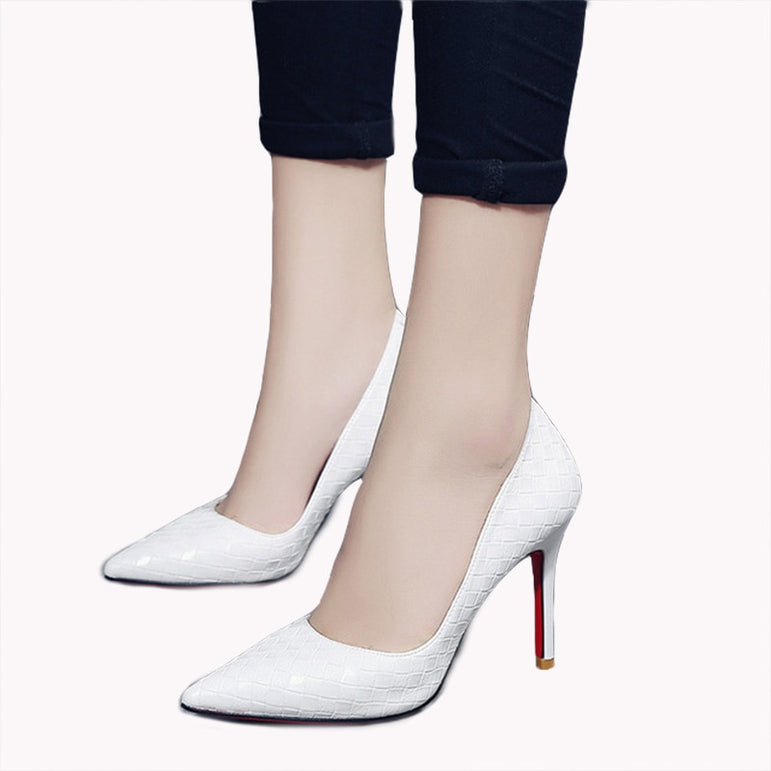 Cute White Girl High Heel Pump