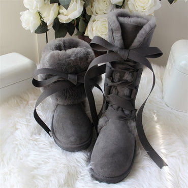 New Arrival Real Fur High Snow Boot