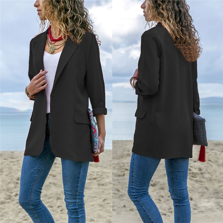Slim Fitted Business Office Lady Jackets