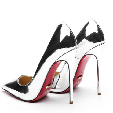 Silver Evening Party Stilettos High Heel