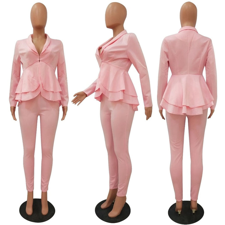 Elegant Office Ladies Business matching suit sets