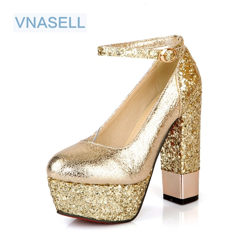 Wedding High Heel Platform Pump