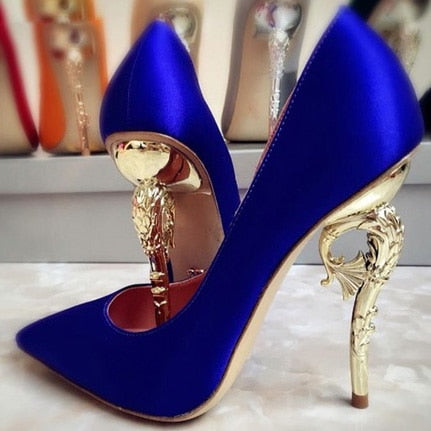 Luxury Gold Heel Metal Pump