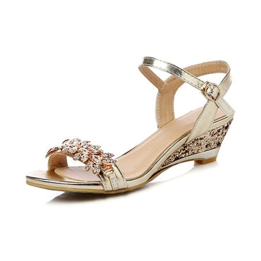 Mid Heel Wedding Sandals