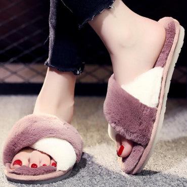 Fluffy Slippers Fur House