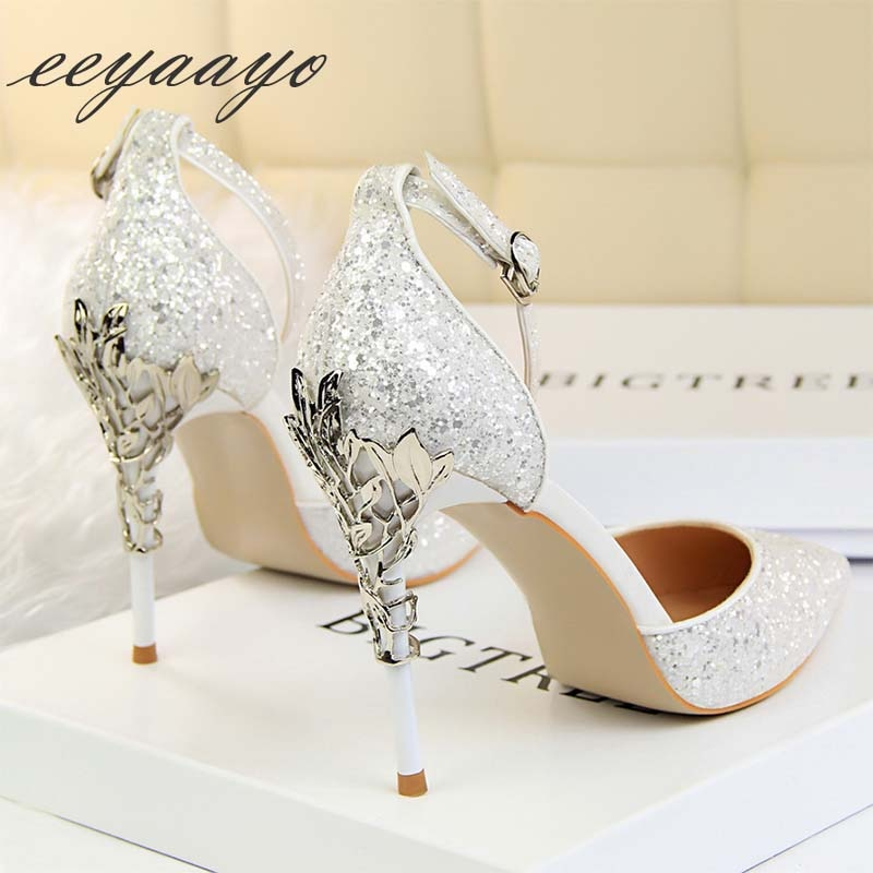 Thin Heel Wedding Sandals
