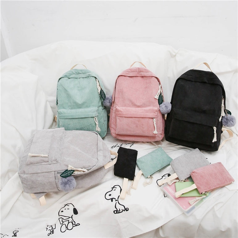Fashion Corduroy Backpacks