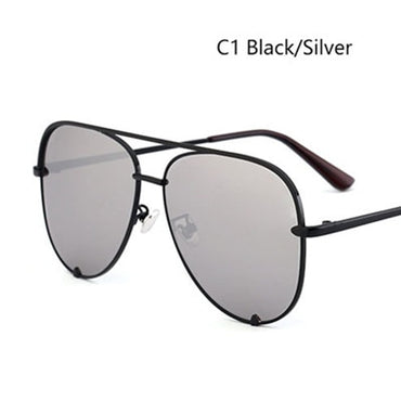 Pilot Sunglasses Silver Mirror