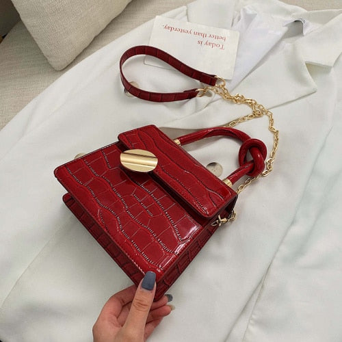 Leather Shoulder Crossbody Handbag