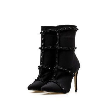 Luxury Stiletto Ankle Scarpins Boots High Heels