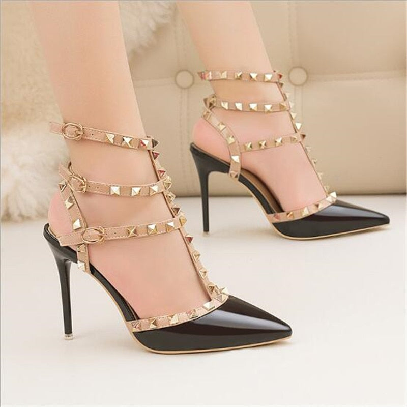 Sexy Leather High Heels Women's ًWedding Sandal