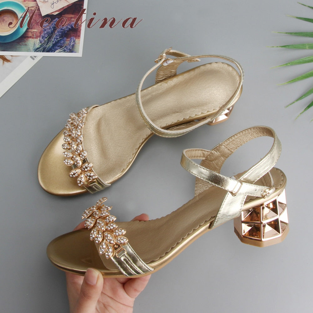 Thick Crystal High Heel Sandal