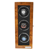 Arcanent 3 Slot Watch Winder  Honey Burlwood Quality Made w/ Ball Bearings