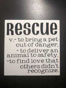 Rescue definition sign | rescue | animal