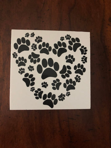 paw print heart sign | dog | pawprint | decor | mom | dad | puppy | love | cat | kitten