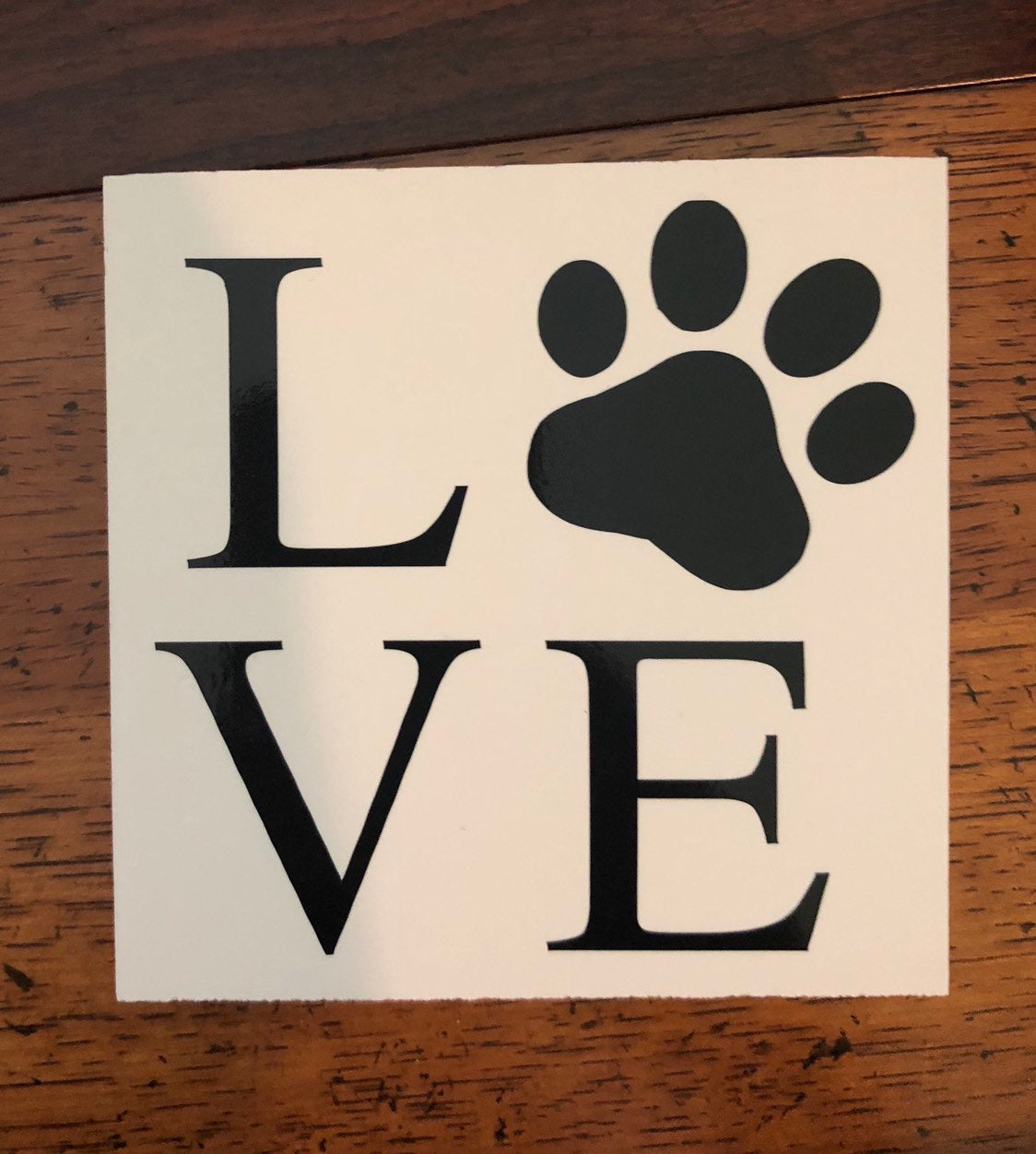 Love Sign | dog | pawprint | decor | mom | dad | puppy | love | cat | kitten