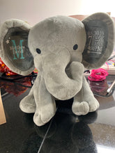 Load image into Gallery viewer, Personalized stuffed elephant | customized | new baby | baby gift