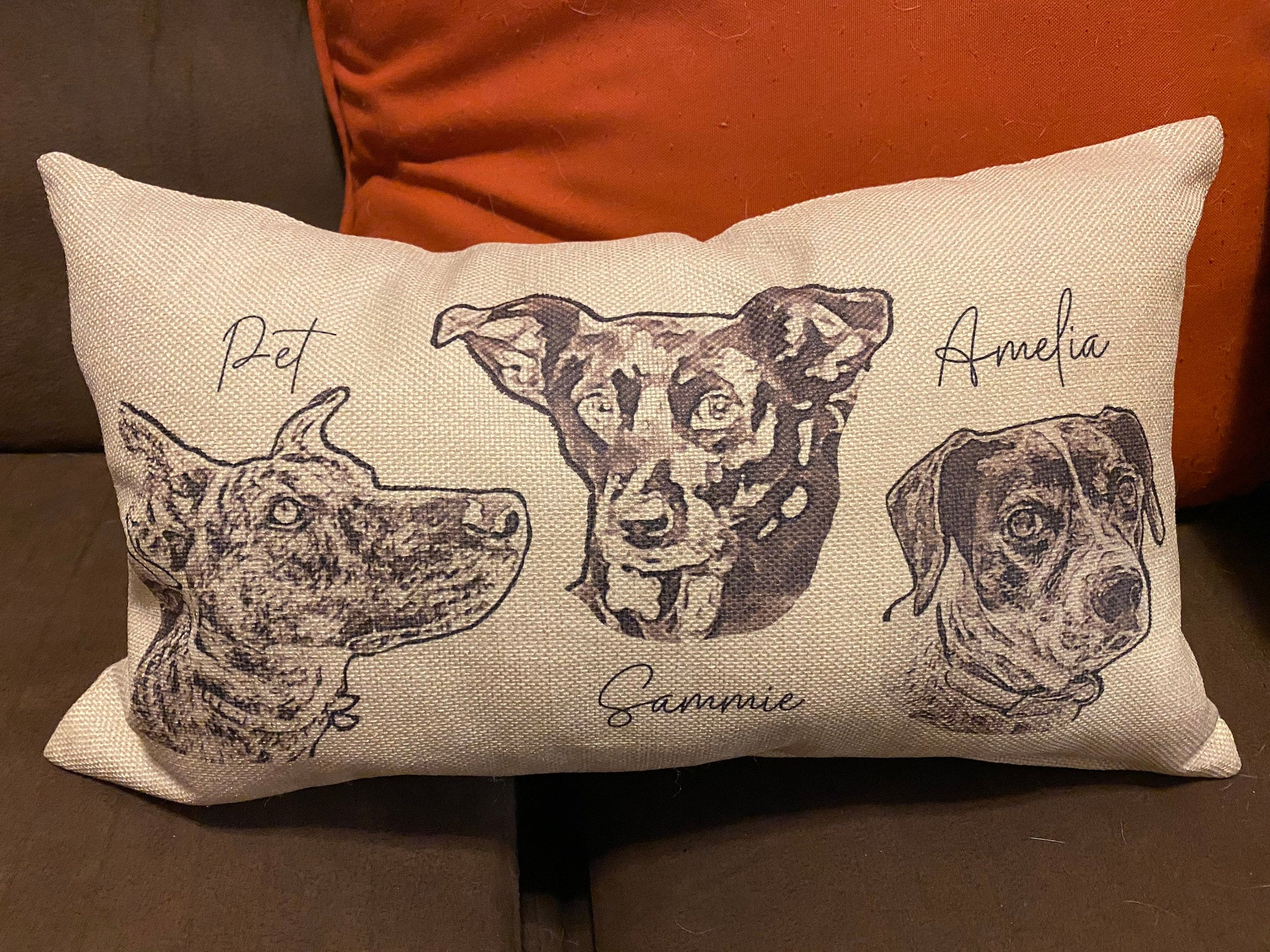 Personalized Pet Photo | Lumbar Pillow | Case Only | Customizable