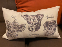 Load image into Gallery viewer, Personalized Pet Photo | Lumbar Pillow | stuffed pillow | Customizable