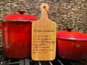 Personalized cutting board | recipe | handwritten recipe