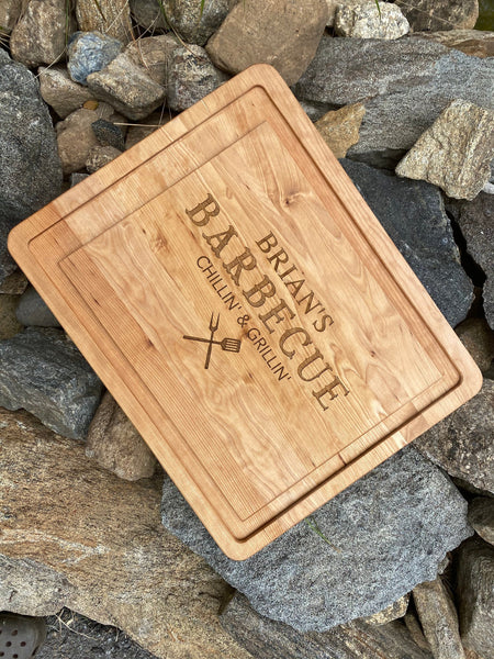 "Personalized 16"" x 20"" Cutting Board- Center Design"