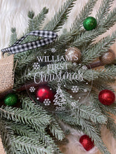 Load image into Gallery viewer, Personalized Baby's First Christmas Ornament