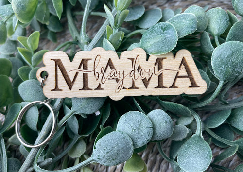 Wooden Engraved Name Keychain