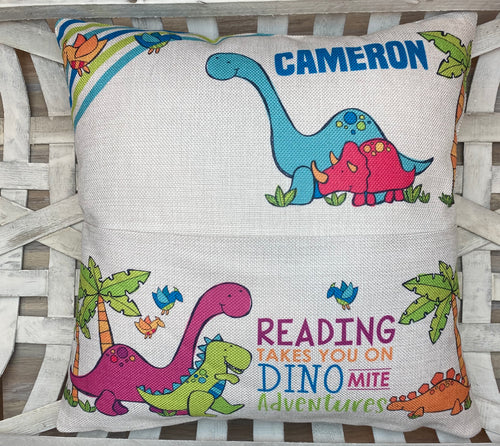 Dinosaur Pocket Pillow