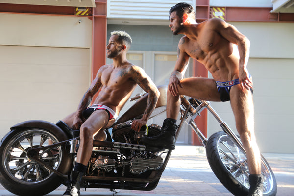 MotorCycle Men in Jock Straps w/ Michael Silas and GianCarlo Annitto