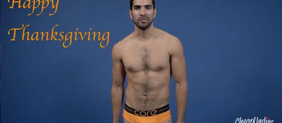 Thanksgiving VIDEO: Underwear Models Give Thanks!