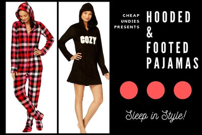 Hooded and Footed PJ's For Her