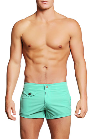 PoolBoy Teal Shorty Short