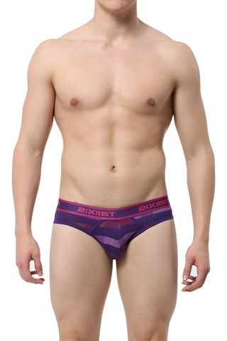2(X)IST Acai Chevron Stripe No-Show Brief