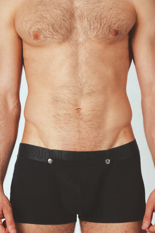 Modus Vivendi Black Button Down Boxer