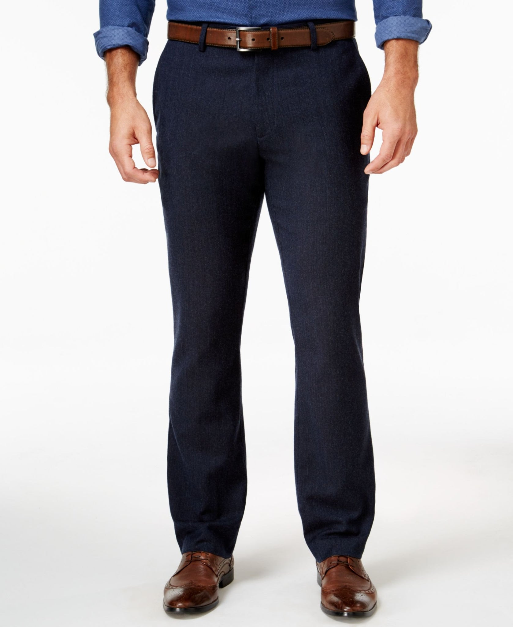 Tasso Elba Men's Cotton Wool Blend Pants