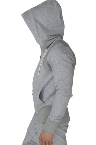 James Tudor Heather Grey Eaton Hoody