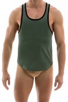 Modus Vivendi Green Khaki Flash Colored Tanktop