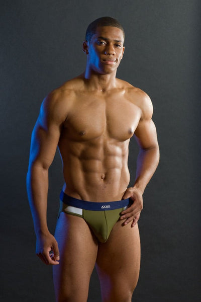 Jocko Green Blocked Swim Brief