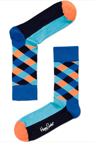 Happy Socks Blue Diamond Socks