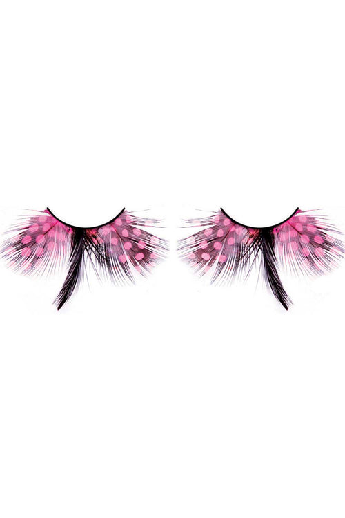 Baci Baby Pink Magic Colors Feather Eyelashes - CheapUndies.com