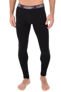 2(X)IST Black Tartan Long Underwear