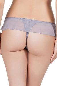 Affinitas Lavender Grey Coco Embroidered Thong