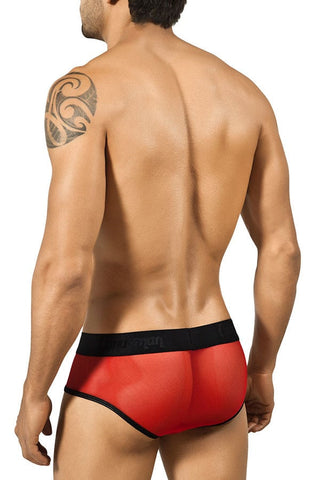 Candyman Red Lace Up Pouch Brief