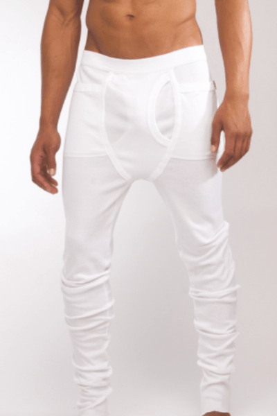 White Slim Fit Sweat Pants