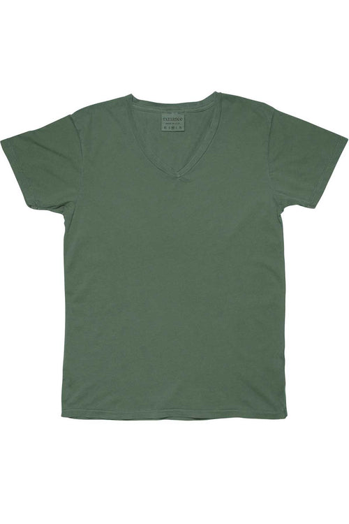 Rxmance Unisex Grass Green V-Neck Tee - CheapUndies.com