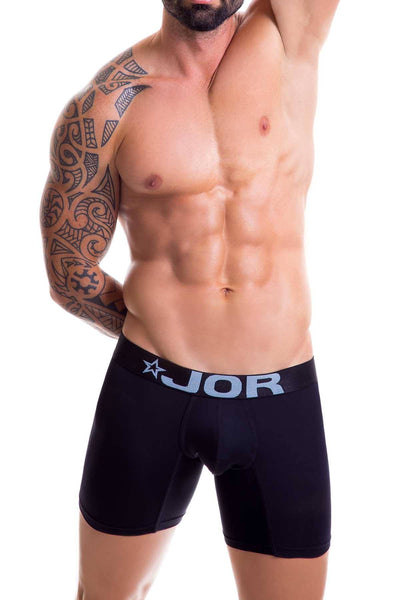 Jor Black Basic Long Boxer