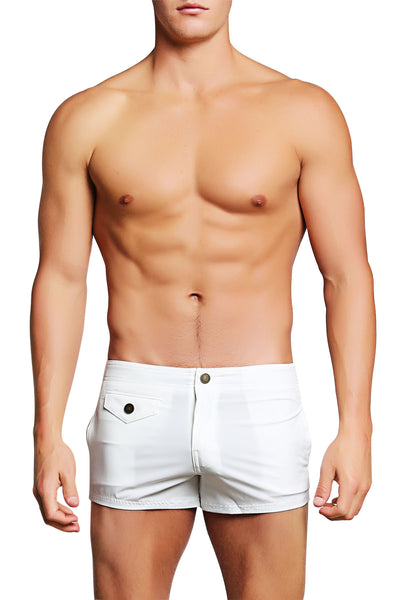 PoolBoy White Shorty Short - CheapUndies.com