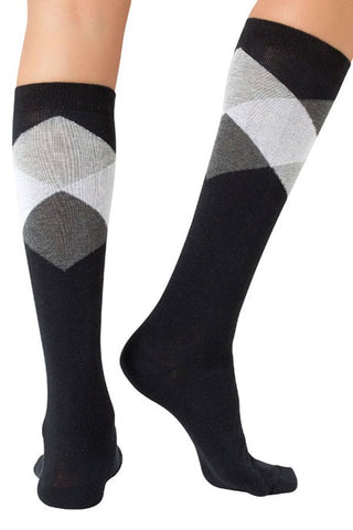 Lucci Black Diamond Calf High Sock