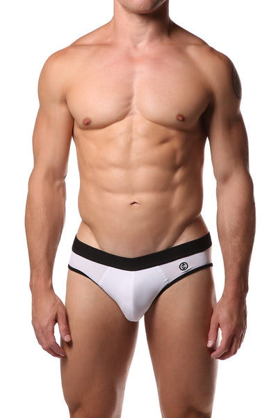 JustinCase White Jock Brief - CheapUndies.com