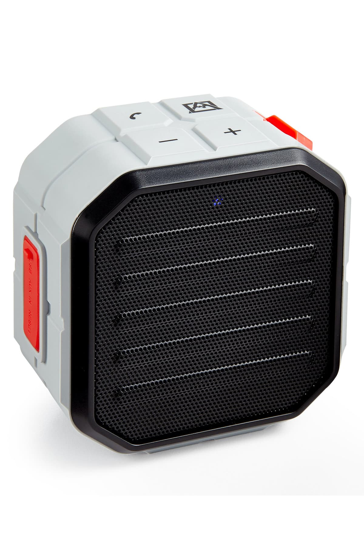 Avalanche Grey Cube Water-Resistant Bluetooth Speaker